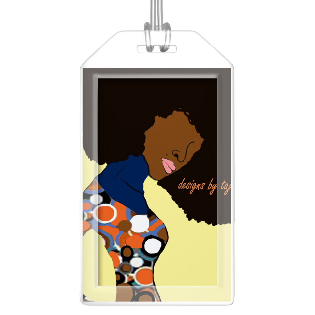 Spotty Diva Luggage Tag