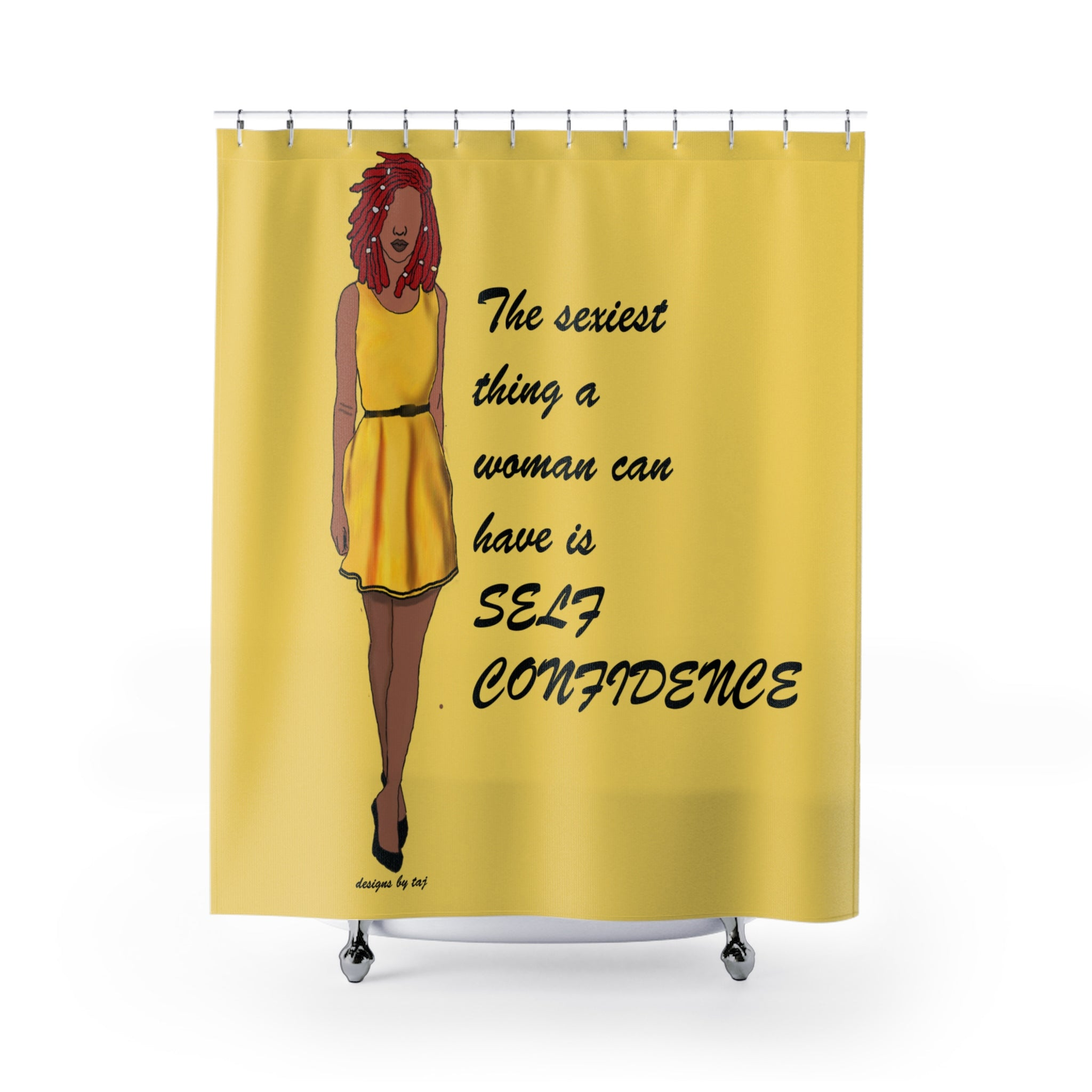 Confident Diva Shower Curtains – Afro Designs by Taj
