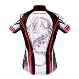 WOSAWE White Dragon Short Sleeve Cycling Jersey