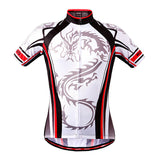 WOSAWE White Dragon Short Sleeve Cycling Jersey - enjoy-outdoor-sport