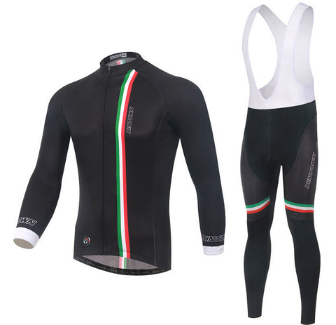 Italy Black Long Sleeve Cycling Jersey Set - enjoy-outdoor-sport