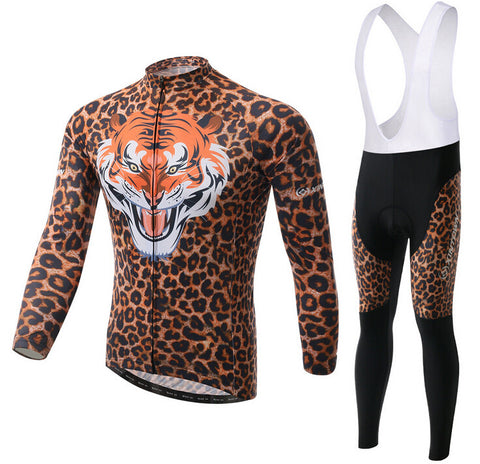 Powerful Tiger Long Sleeve Cycling Jersey Set - enjoy-outdoor-sport