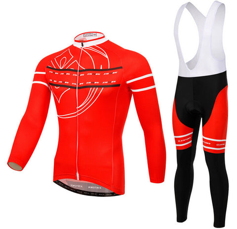 Red XINTOWN Long Sleeve Cycling Jersey Set - enjoy-outdoor-sport