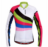 Breathable Rainbow Long Sleeve Cycling Jersey Set - enjoy-outdoor-sport