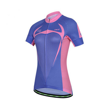 CHEJI Blue Red Short Sleeve Cycling Jersey - enjoy-outdoor-sport