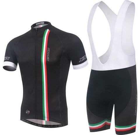 XINTOWN Italy Black Short Sleeve Cycling Jersey Set - enjoy-outdoor-sport