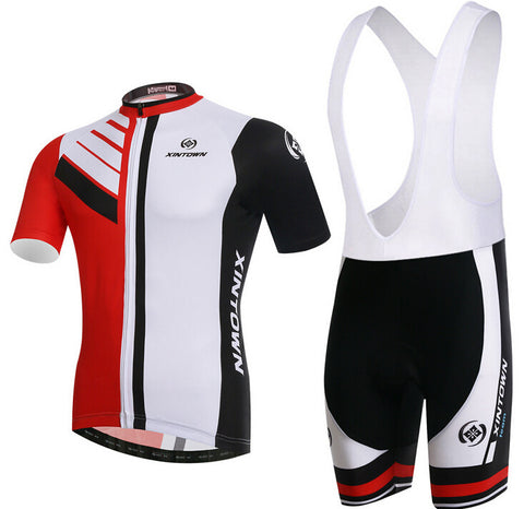 XINTOWN White Red Short Sleeve Cycling Jersey Set - enjoy-outdoor-sport