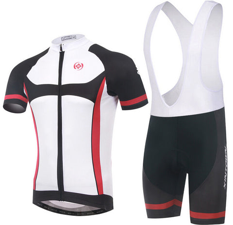 XINTOWN White Black Short Sleeve Cycling Jersey Set - enjoy-outdoor-sport