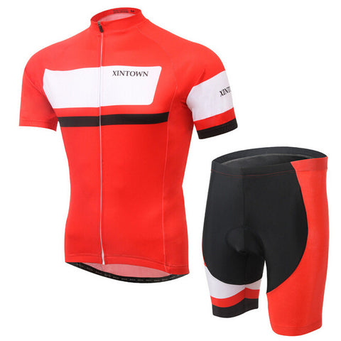 XINTOWN Red White Short Sleeve Cycling Jersey Set - enjoy-outdoor-sport