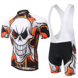 XINTOWN Skull Short Sleeve Cycling Jersey Set - enjoy-outdoor-sport