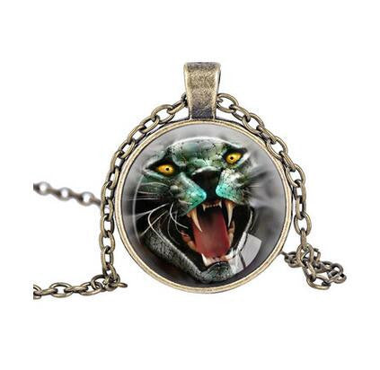 Firece Tiger Necklace Vintage Style Nature Jewelry