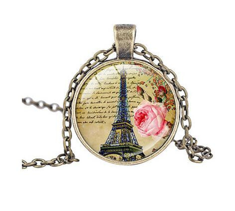 Beautiful PARIS Necklace Vintage Style Nature Jewelry
