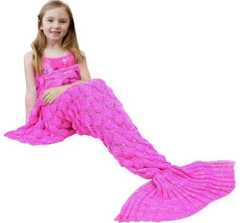 Child Mermaid Tail Blanket