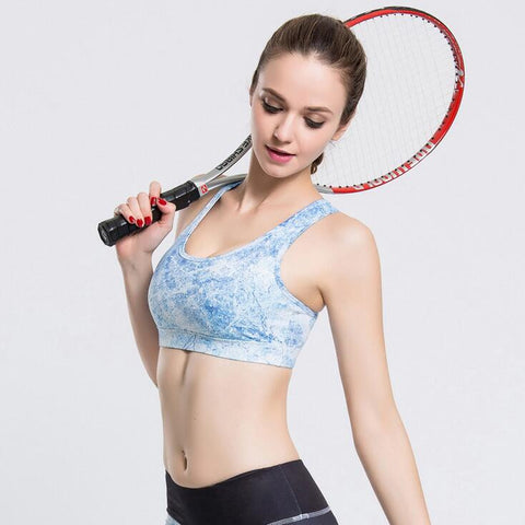 Beautiful Blue Sky Sports Bra - Women