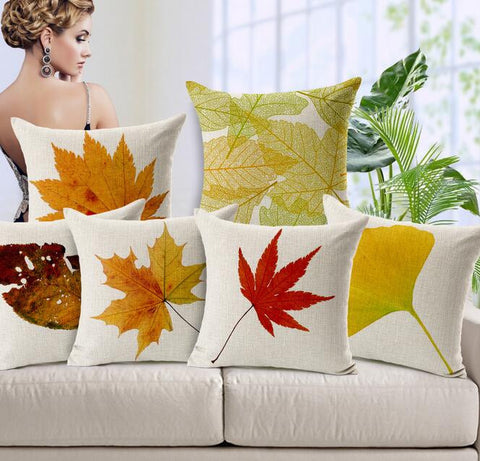 Classical Leaves From Close to Nature Pillow Case
