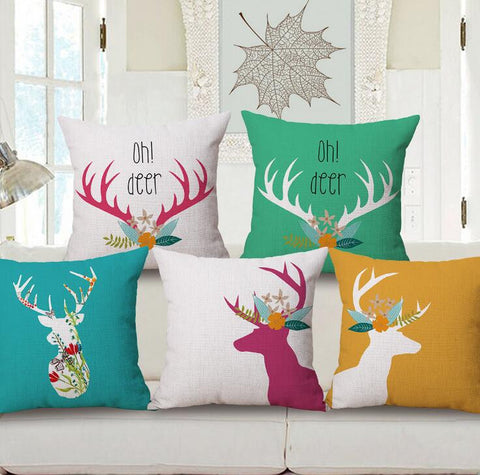 Tropical Deer Pillow Case