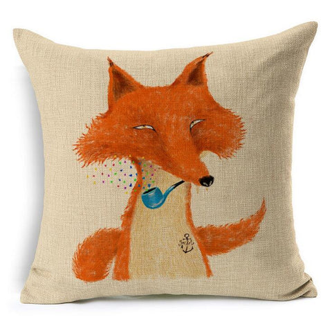Cute Yellow Fox Pillow Case