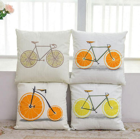 Vintage Bicycle Pillow Case