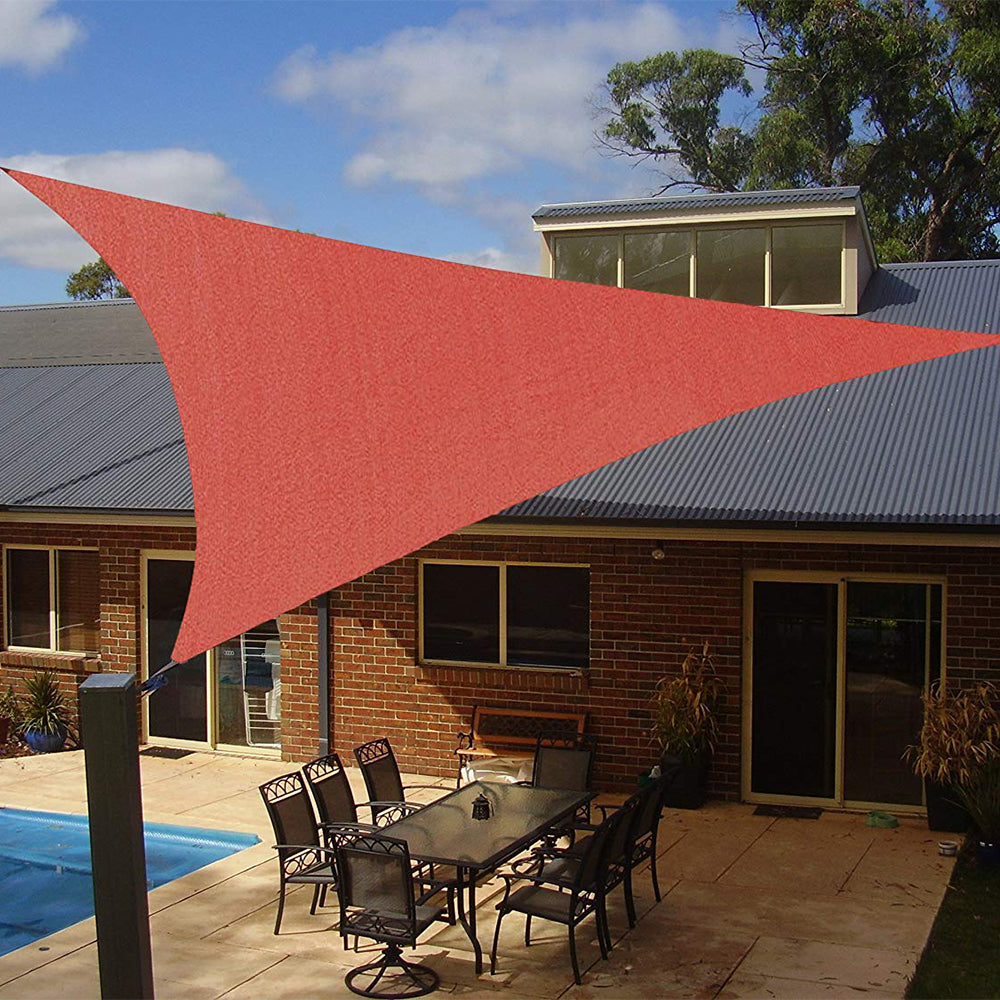 Shade Beyond 20 X 20 X 20 Rust Red Color Triangle Sun Shade Sail