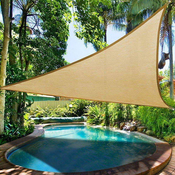 Shade Beyond 20 X 20 X 20 Sand Color Triangle Sun Shade Sail For