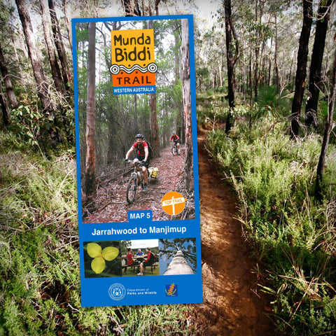 Munda Biddi Trail Map 5 - Jarrahwood to Manjimup