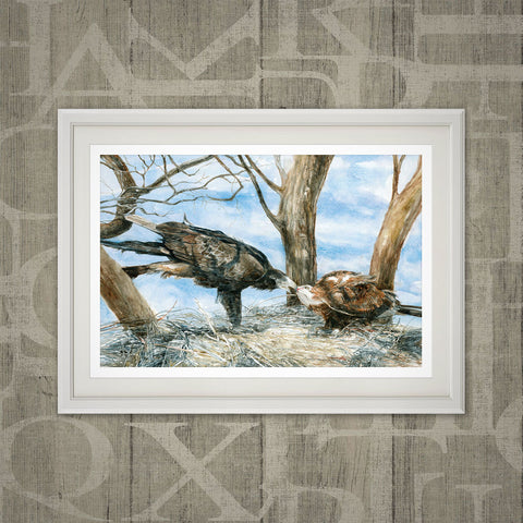 Wedge-tailed eagles print
