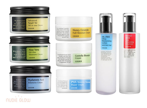 COSRX Moisturiser Collection at Nudie Glow Best Korean Beauty Store Australia
