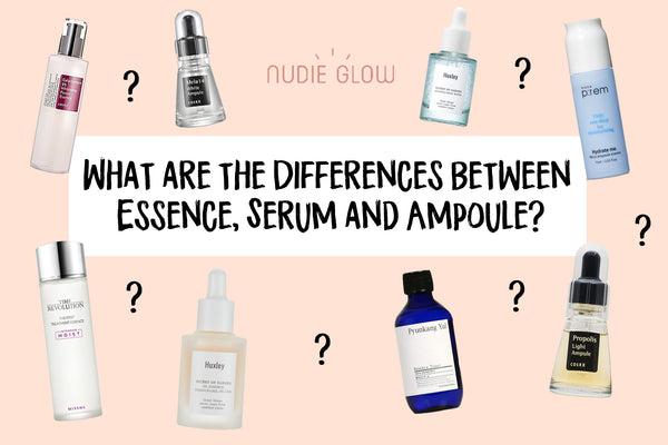 What are the differences between essence serum ampoule Korean Beauty Blog Nudie Glow Australia