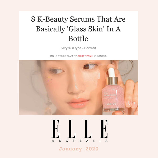 8 K-Beauty Serums That Are Basically 'Glass Skin' In A Bottle Elle Australia Nudie Glow