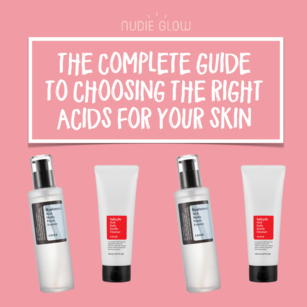 Guide to Acids Skincare Nudie Glow Blog Korean Beauty Australia