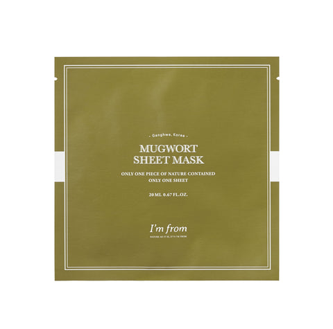 'm From Mugwort Sheet Mask Nudie Glow Korean Skin Care Australia