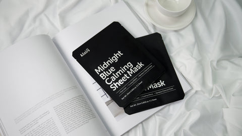 Klairs Midnight Blue Calming Sheet Mask at Nudie Glow Korean Beauty Australia