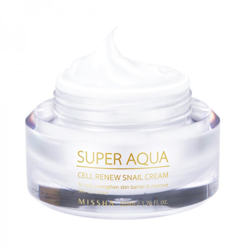 Missha Super Aqua Cell Renew Snail Cream Nudie Glow Australia