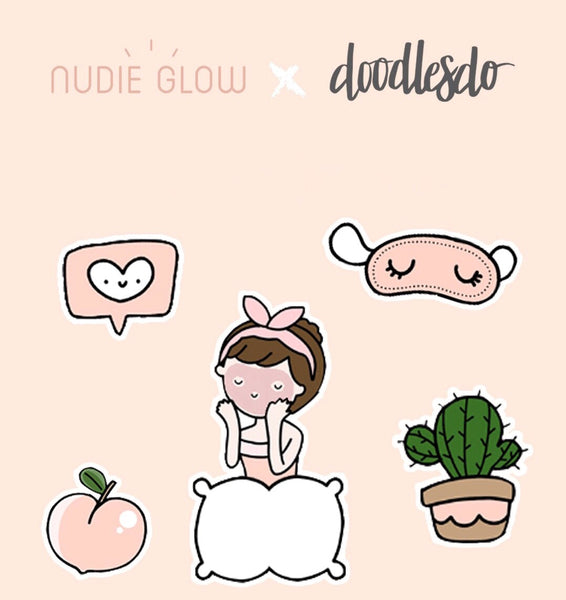 Nudie Glow Doodledo Cute Stickers Korean beauty Australia