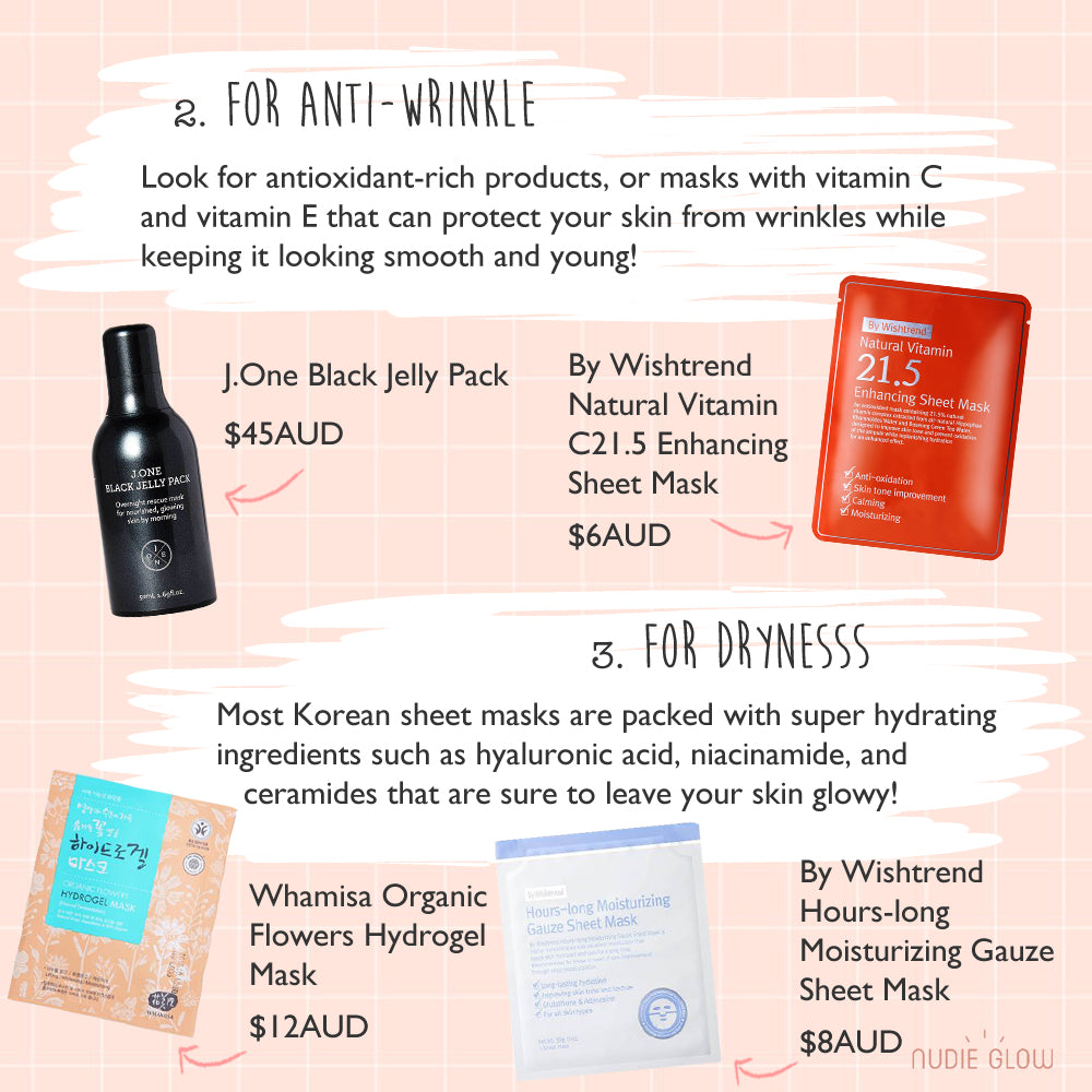 Nudie Glow Guide to Korean Face Masks K-beauty Australia
