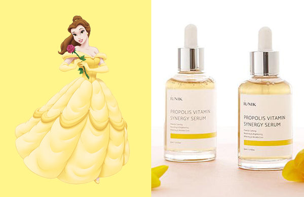 Disney Princess Belle iUNIK Propolis Vitamin Synergy Serum Nudie Glow Korean Skin Care Australia