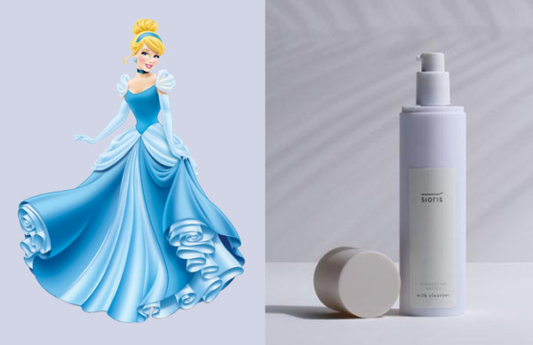 Disney Princess Cinderella Sioris Cleanse Me Softly Milk Cleanser Nudie Glow Korean Skin Care Nudie Glow Australia