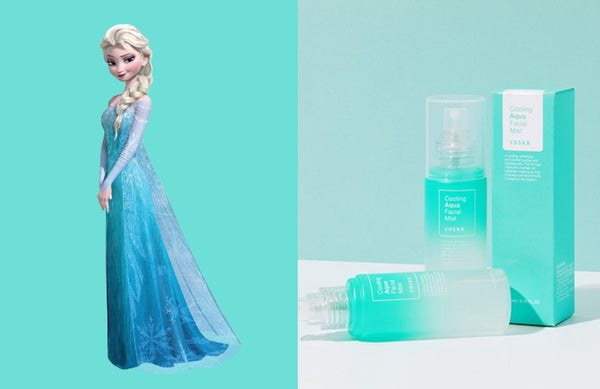 Disney Princess Elsa COSRX Cooling Aqua Facial Mist Nudie Glow Korean Skin Care Australia