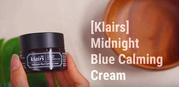 Klairs midnight blue calming cream Nudie Glow Korean beauty skincare australia