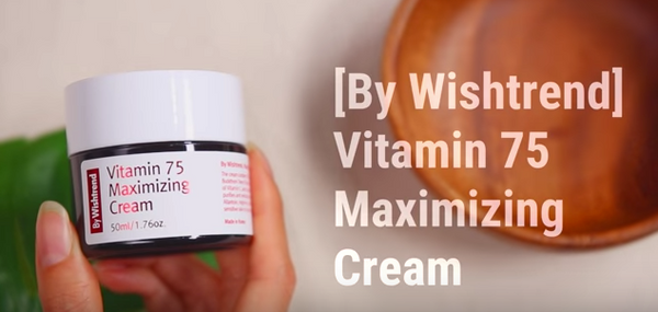 by wishtrend vitamin 75 maximizing cream nudie glow korean beauty skincare australia