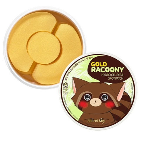 Secret Key Gold Racoony Hydrogel Eye & Spot Patch Nudie Glow Korean Skin Care Australia