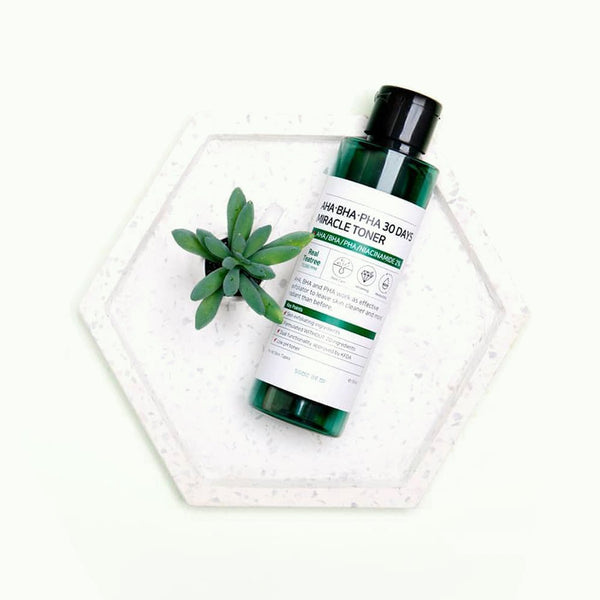 SOME BY MI AHA BHA PHA 30 Days Miracle Toner at Nudie Glow Best Korean Beauty Australia