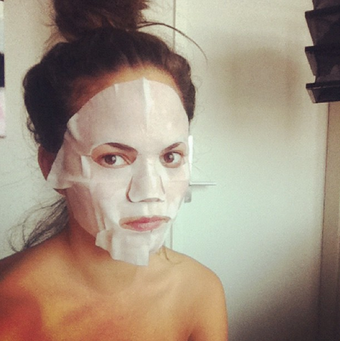 Chrissy Teigen Face mask nudie glow korean beauty australia