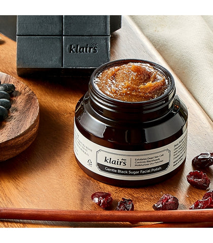 Klairs Gentle Black Sugar Facial Polish Nudie Glow Korean Skin Care Australia