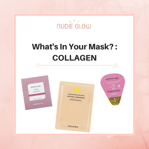 Nudie Glow What's in your mask Why is collagen good for your skin Korean Beauty Australia