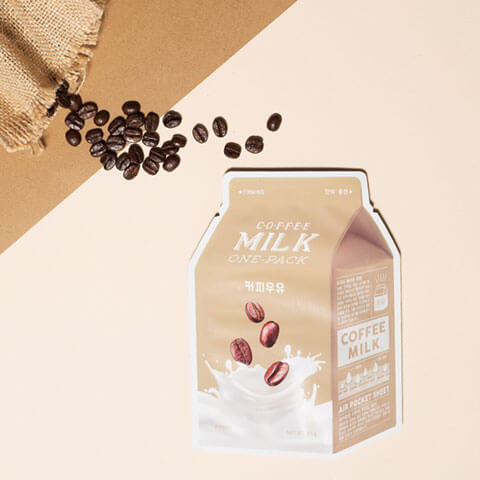 A'PIEU Coffee Milk Daily Sheet Mask Nudie Glow Korean Beauty Australia