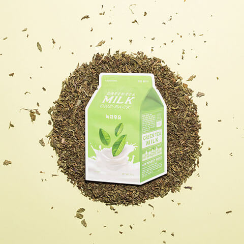 A'PIEU Green Tea Milk Daily Sheet Mask Nudie Glow Korean Beauty Australia