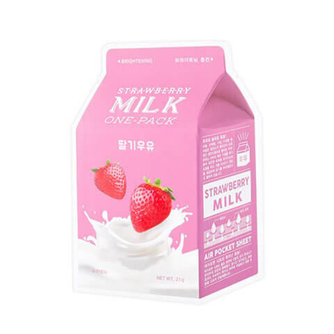A'PIEU Strawberry Milk Daily Sheet Mask Nudie Glow Korean Beauty Australia