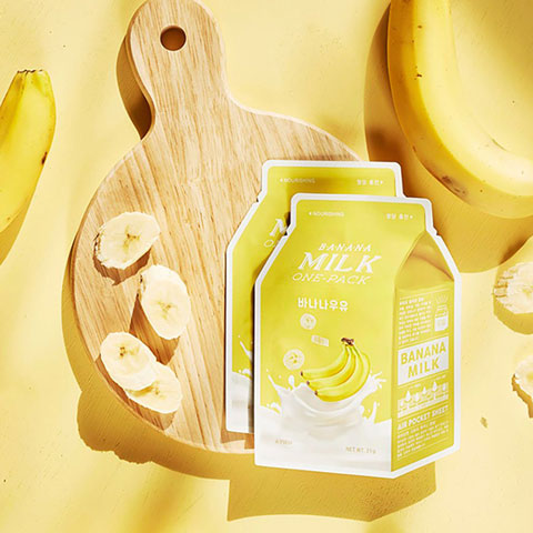 APIEU Banana Milk Sheet Mask Nudie Glow Korean Beauty Australia