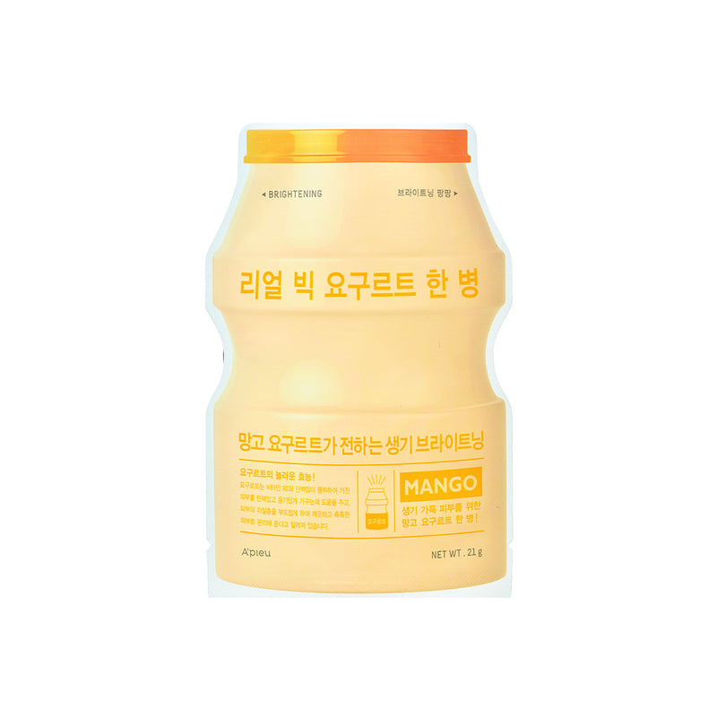 A'Pieu Real Big Yogurt One Bottle Mango Nudie Glow Korean Sheet Mask Australia